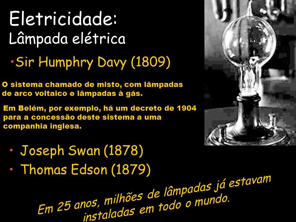 Eletricidade: Lâmpada elétrica