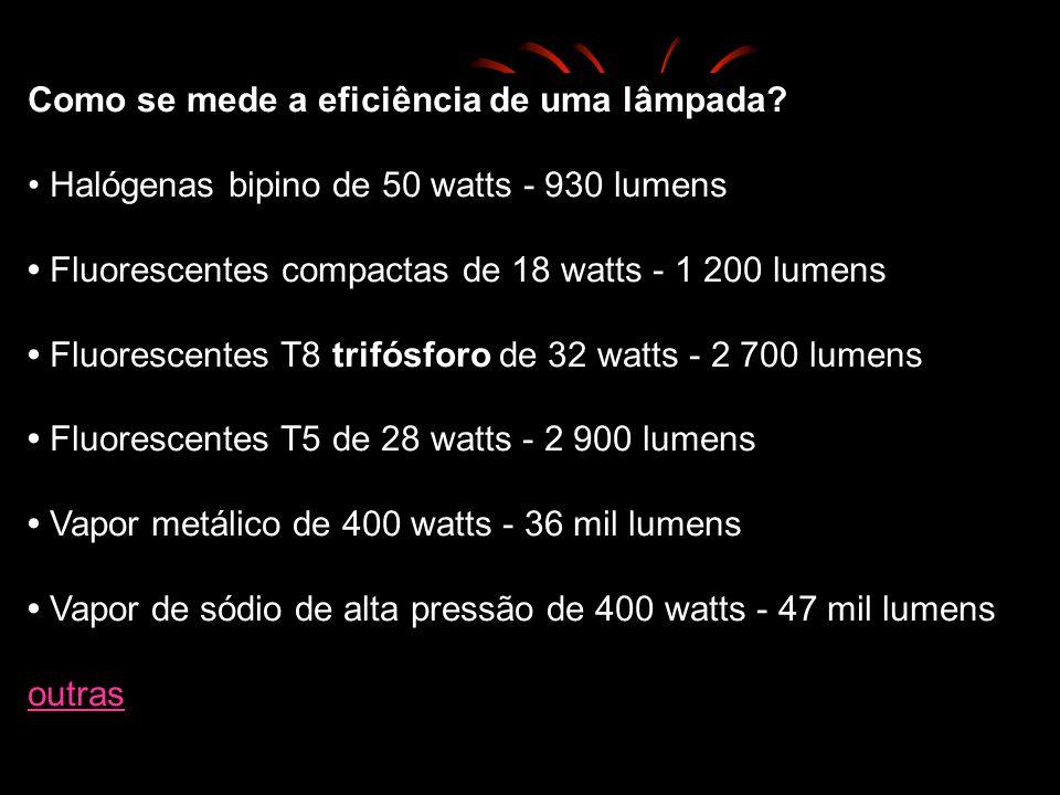 Como se mede a eficiência de uma lâmpada