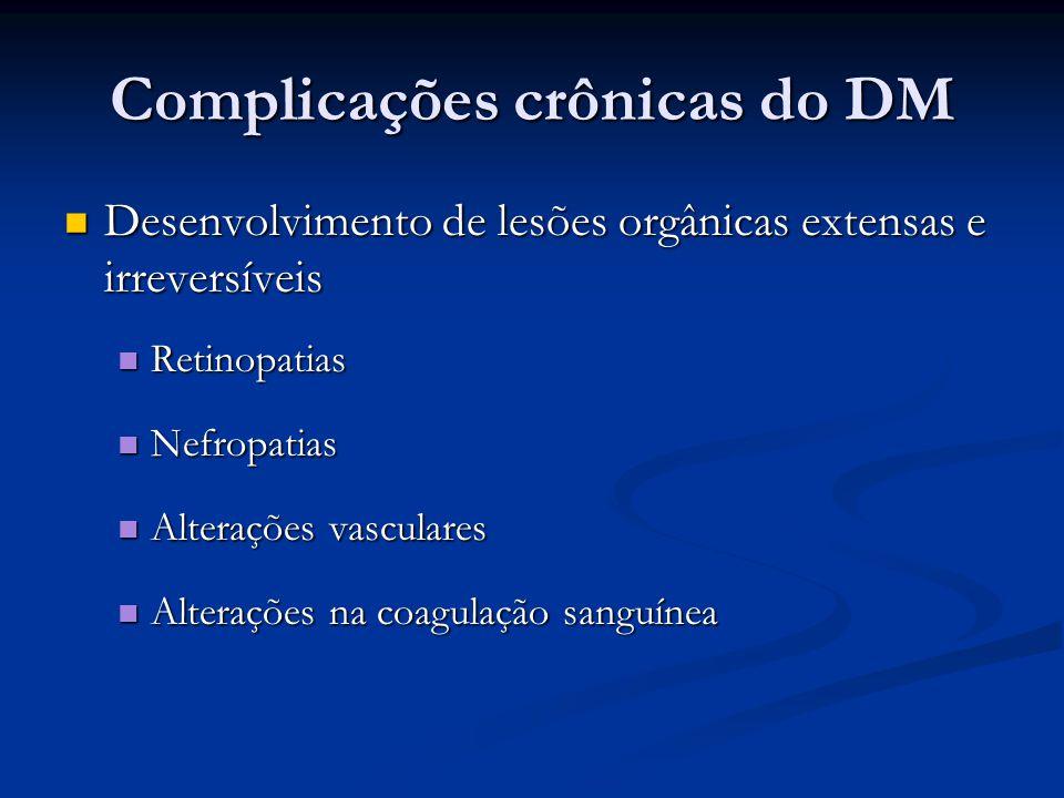 Complicações crônicas do DM