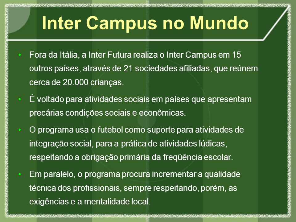 Inter Campus no Mundo