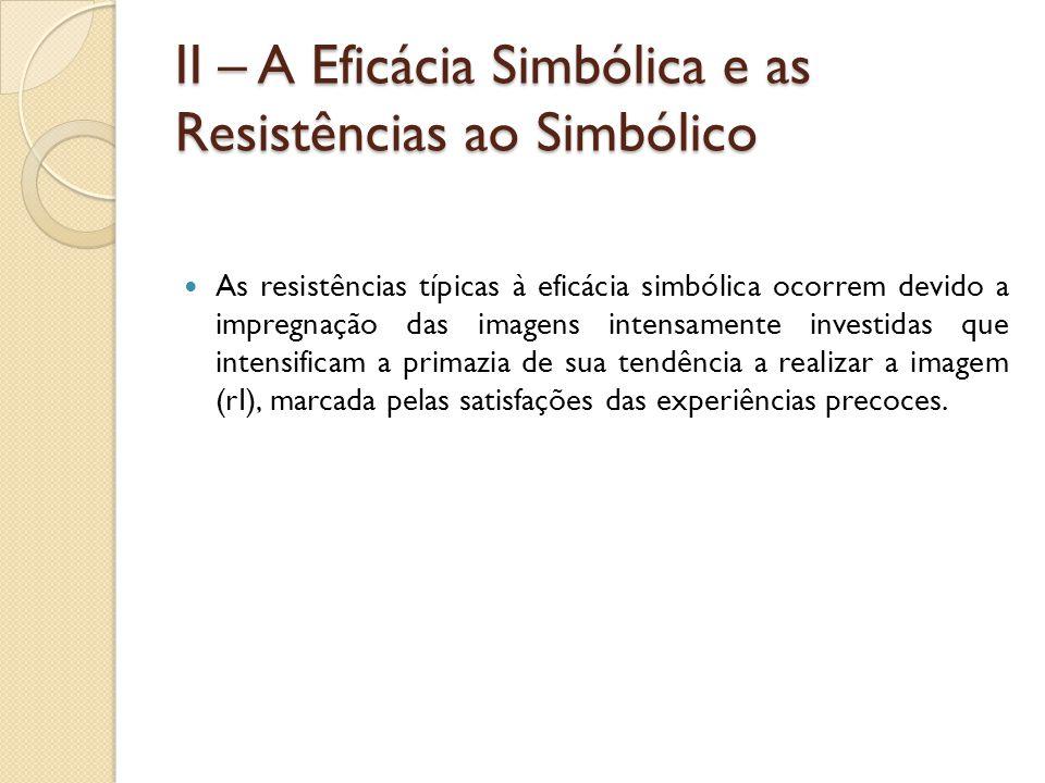 II – A Eficácia Simbólica e as Resistências ao Simbólico