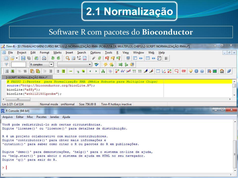 Software R com pacotes do Bioconductor