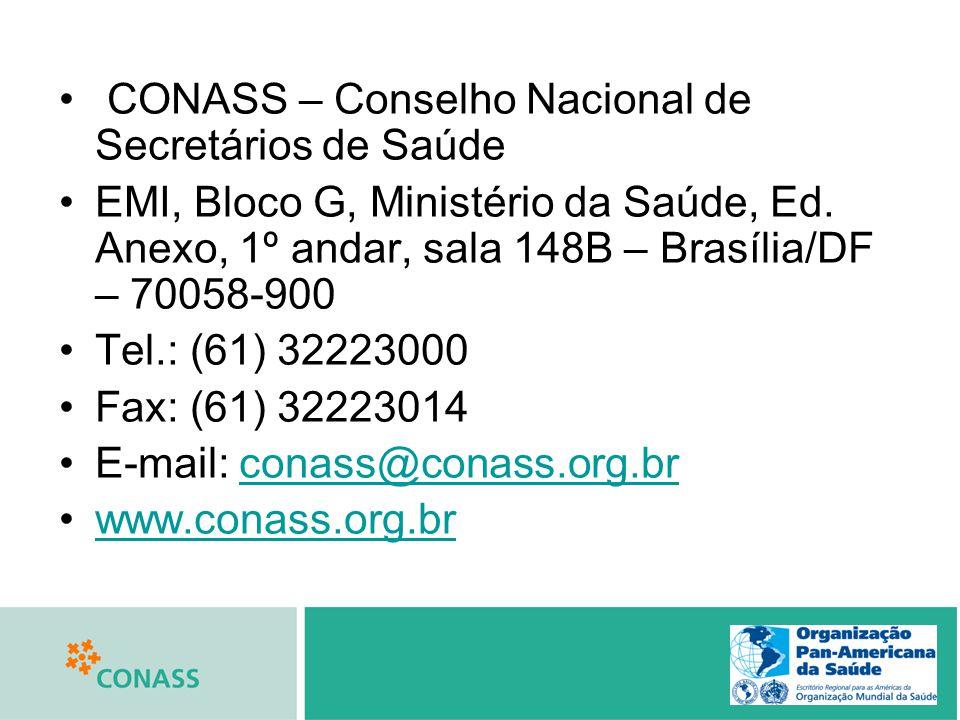 CONASS – Conselho Nacional de Secretários de Saúde