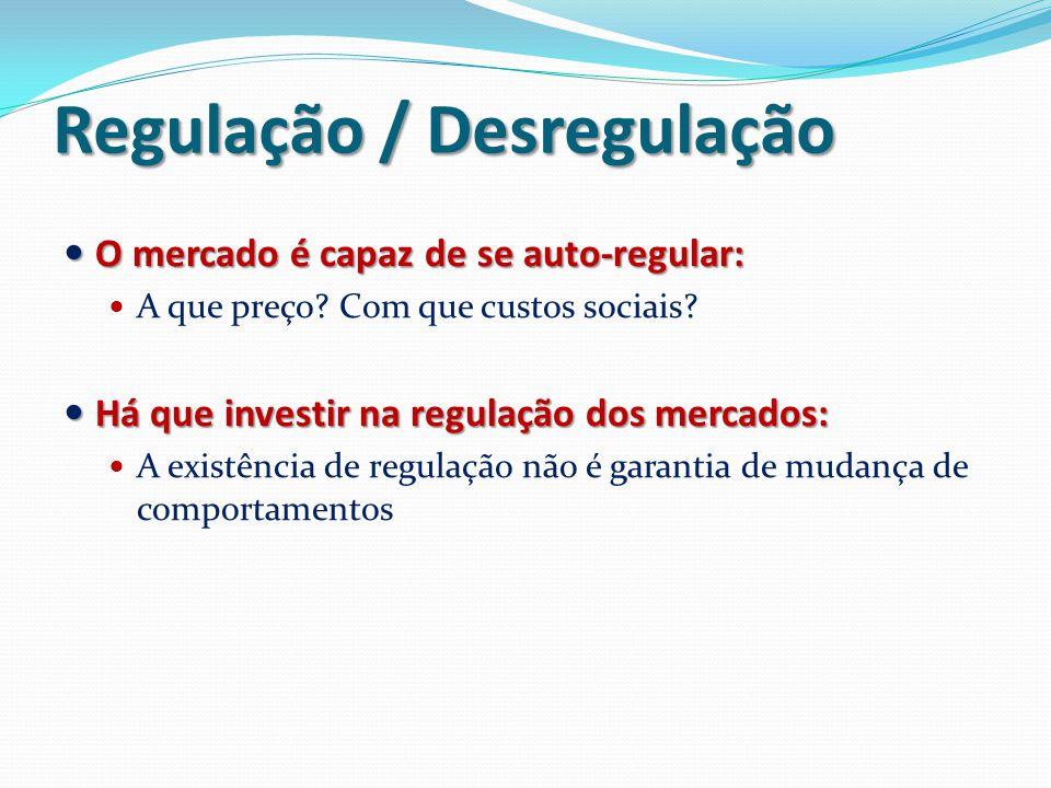 Regulação / Desregulação