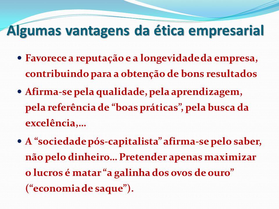 Algumas vantagens da ética empresarial