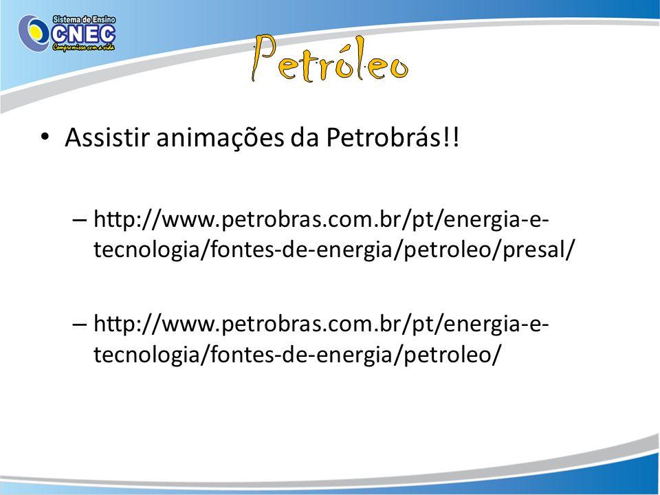 Petróleo Assistir animações da Petrobrás!!