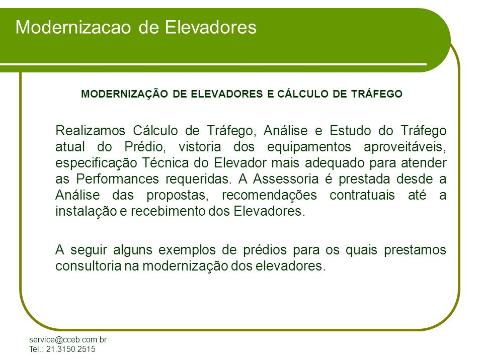 Modernizacao de Elevadores