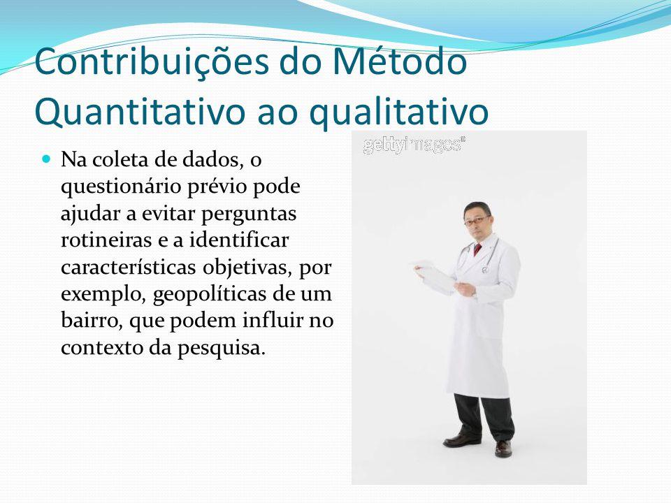 Contribuições do Método Quantitativo ao qualitativo
