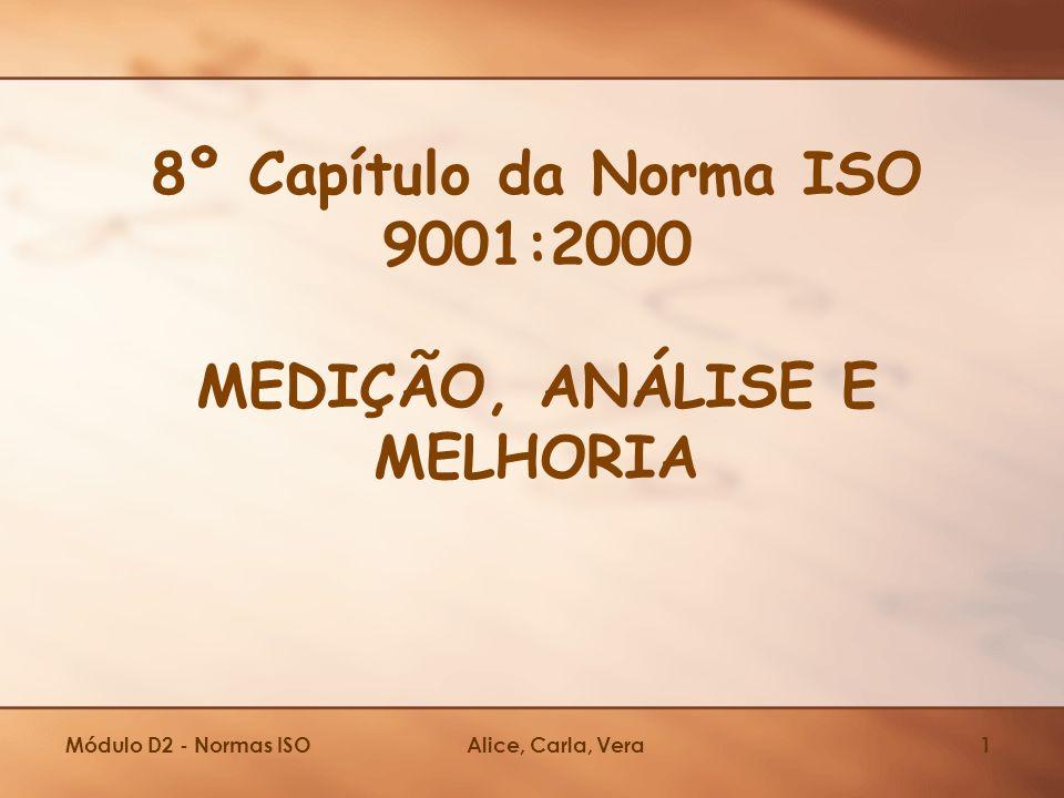 8º Capítulo da Norma ISO 9001:2000 MEDIÇÃO, ANÁLISE E MELHORIA