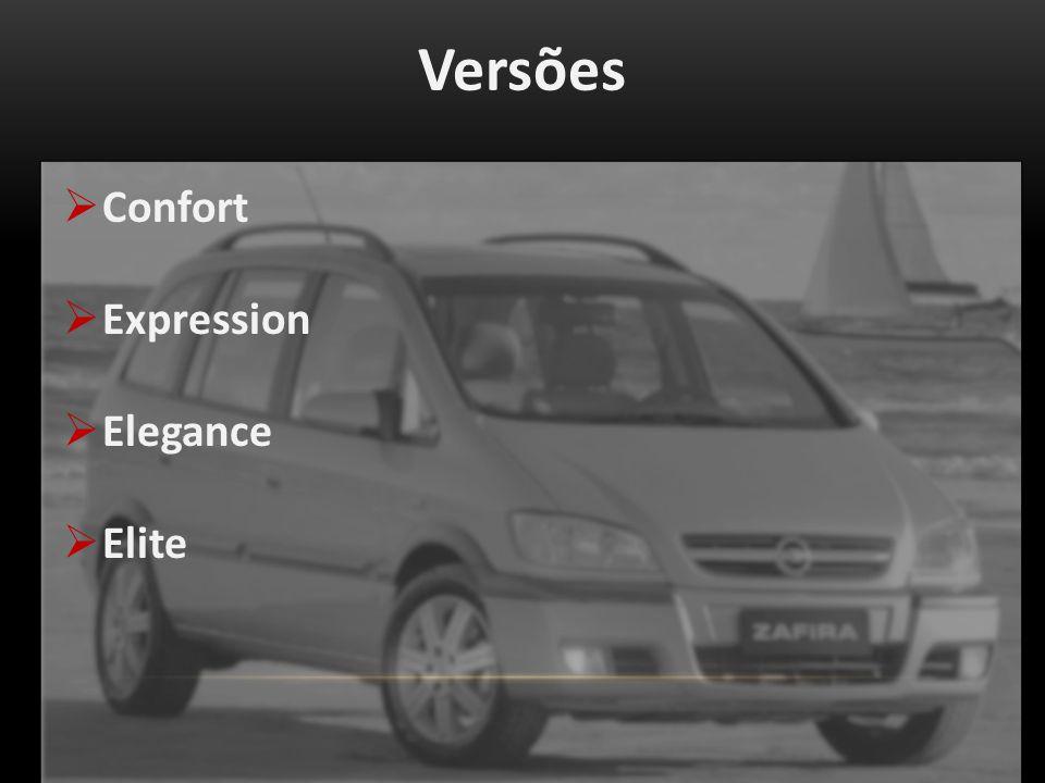 Versões Confort Expression Elegance Elite