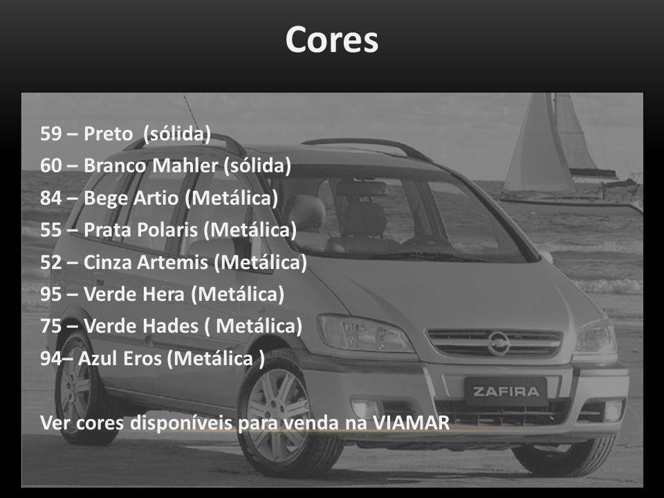 Cores 59 – Preto (sólida) 60 – Branco Mahler (sólida)