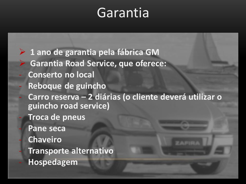 Garantia 1 ano de garantia pela fábrica GM