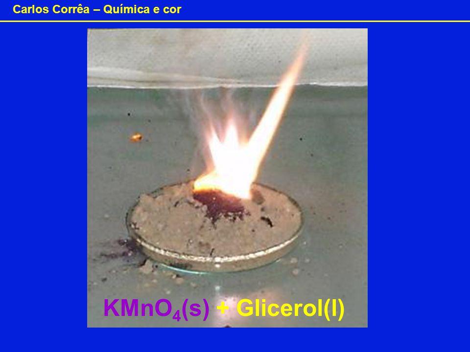 KMnO4(s) + Glicerol(l)