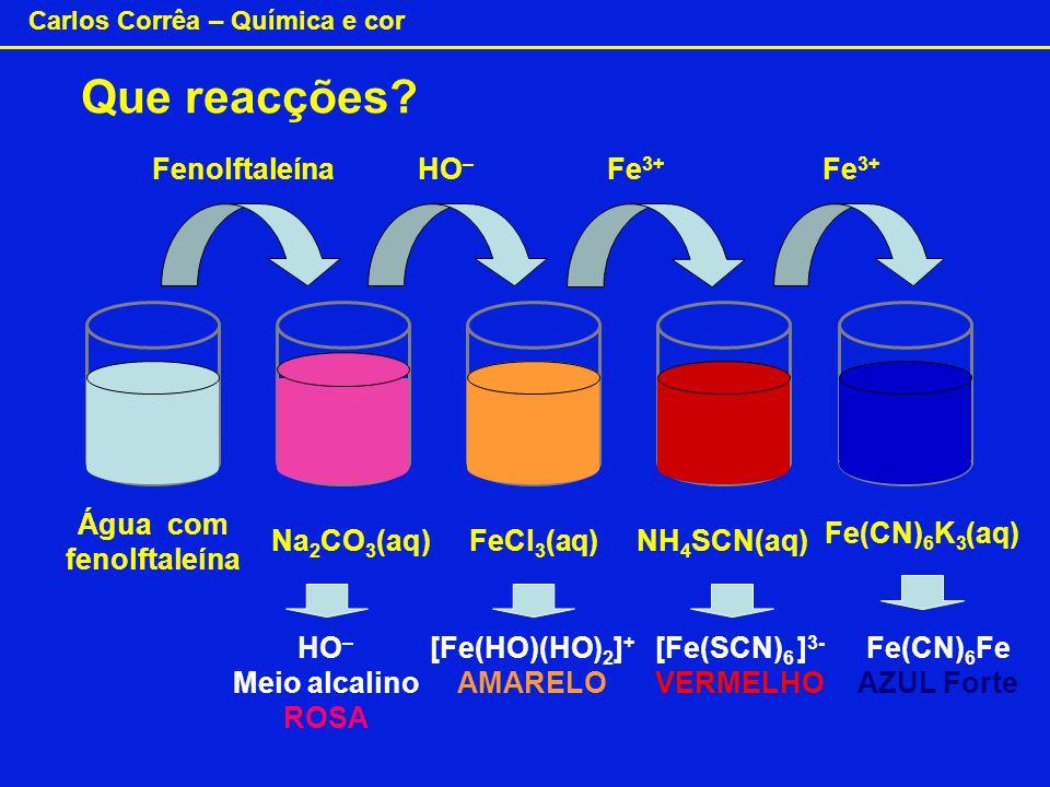 Água com fenolftaleína