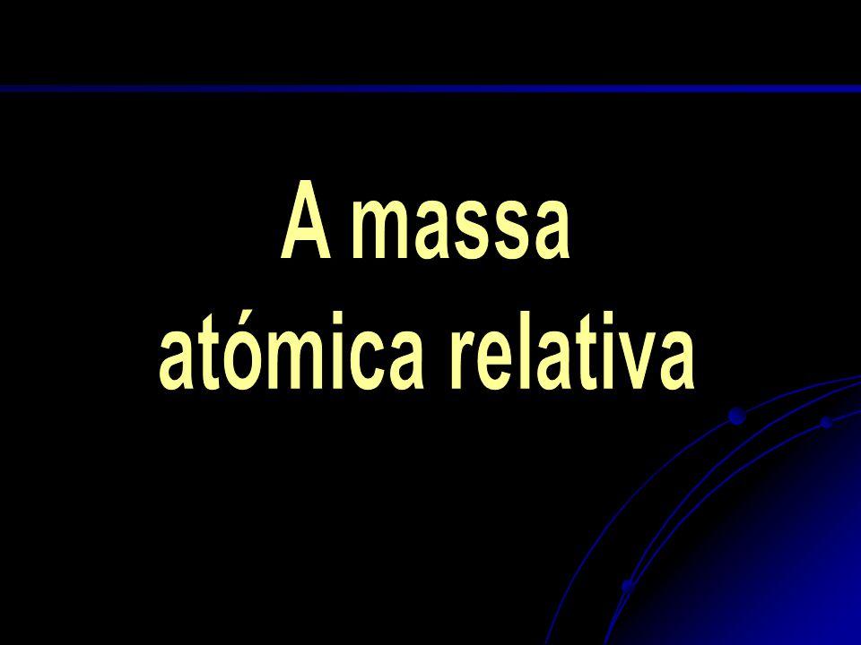 A massa atómica relativa