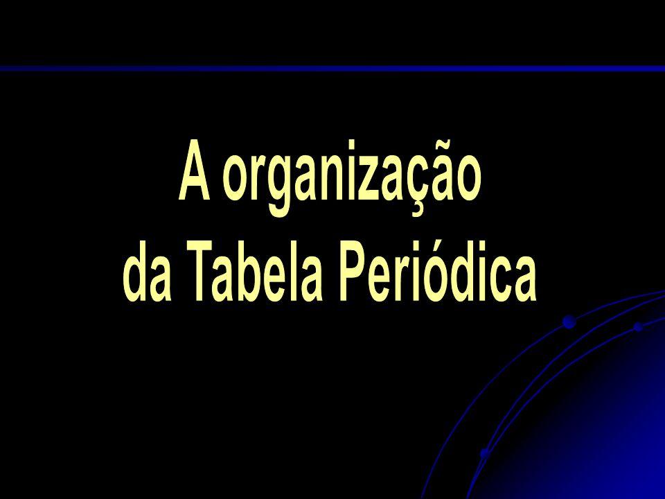 A organização da Tabela Periódica