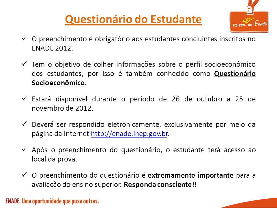 Questionário do Estudante