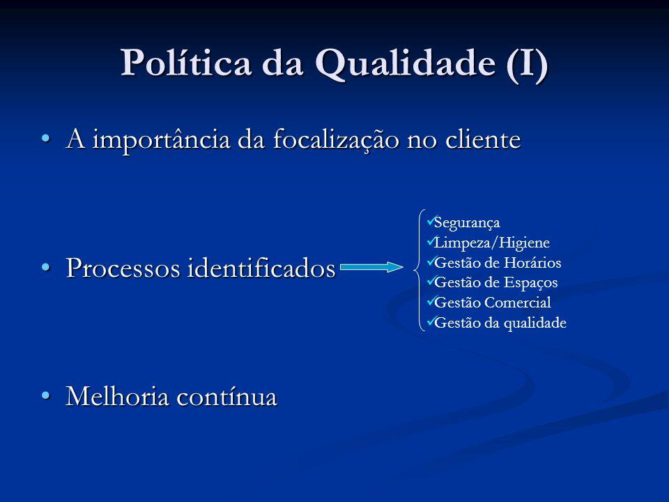 Política da Qualidade (I)