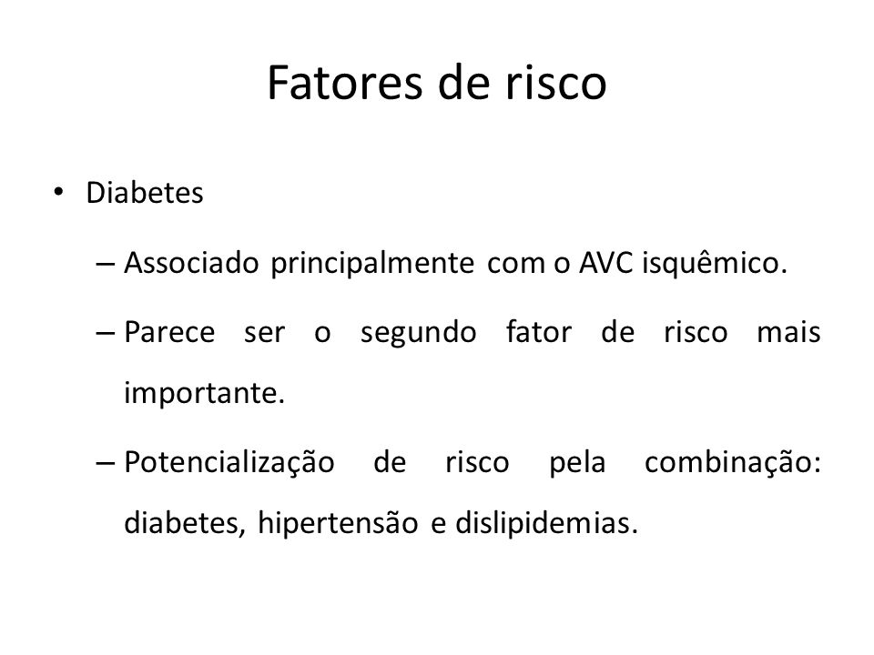 Fatores de risco Diabetes