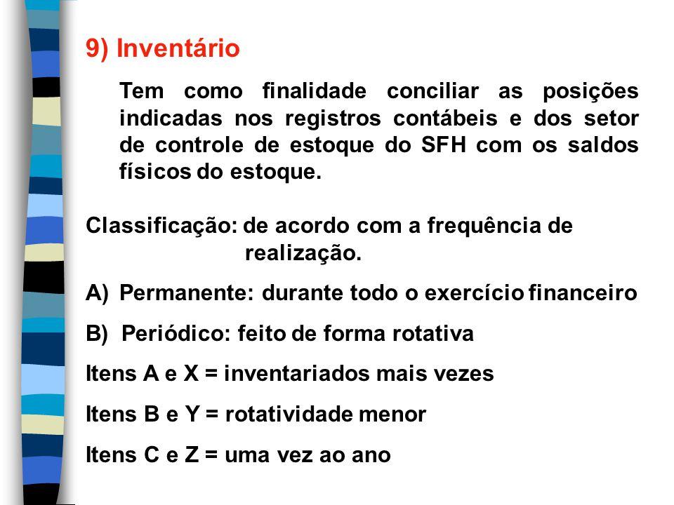 9) Inventário