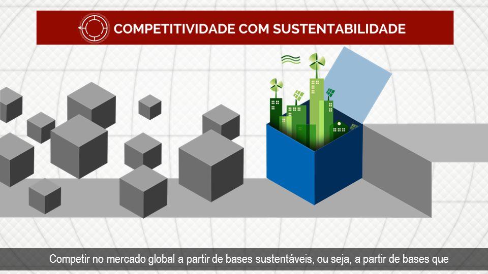 Competitividade com sustentabilidade.