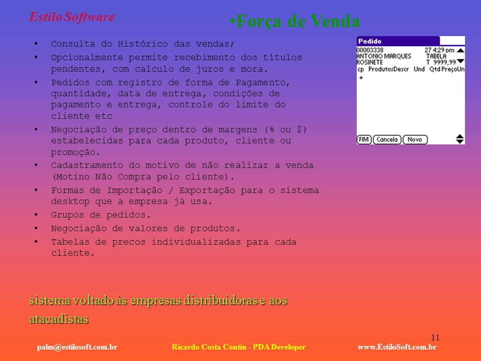Ricardo Costa Contin - PDA Developer