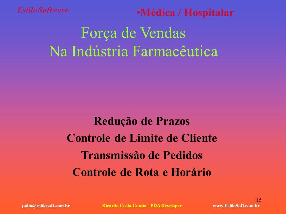 Força de Vendas Na Indústria Farmacêutica