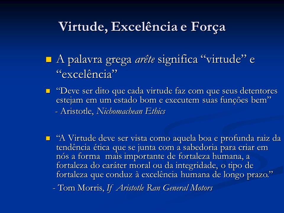 Virtude, Excelência e Força