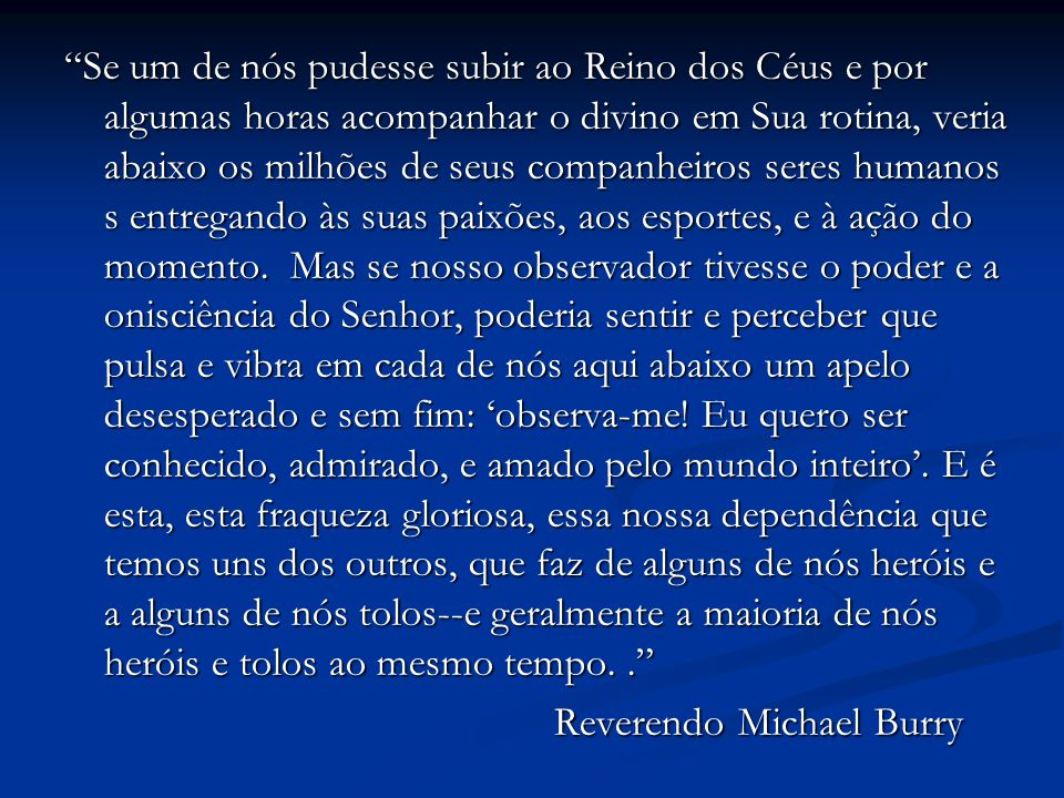 Reverendo Michael Burry