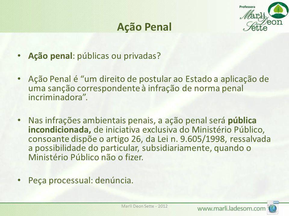 Ação Penal Ação penal: públicas ou privadas