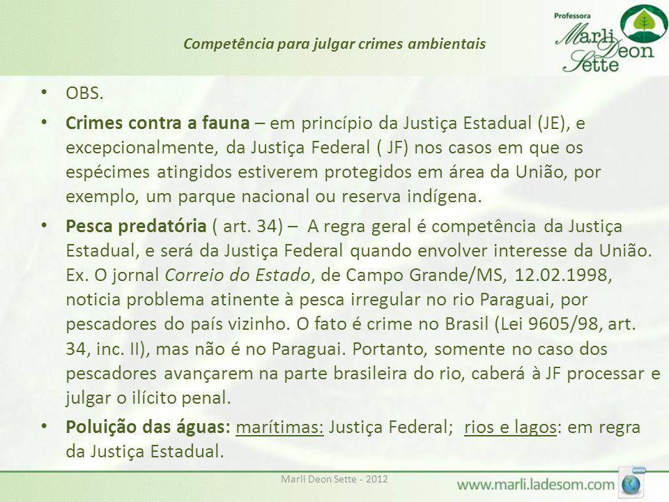 Competência para julgar crimes ambientais