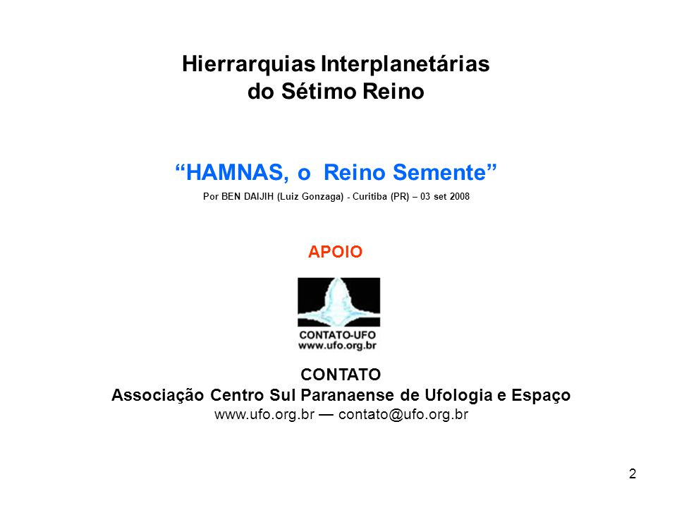 Hierrarquias Interplanetárias do Sétimo Reino