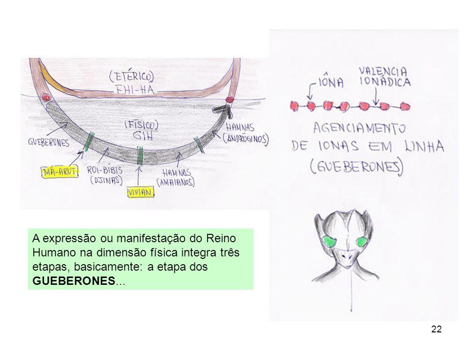 A expressão ou manifestação do Reino Humano na dimensão física integra três etapas, basicamente: a etapa dos GUEBERONES...
