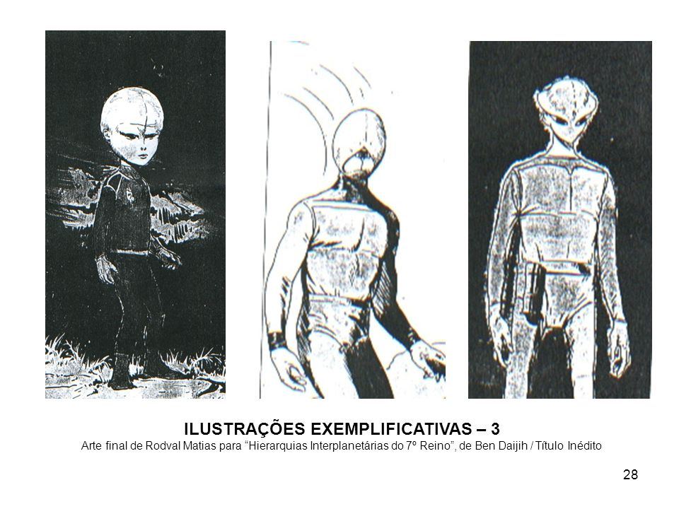 ILUSTRAÇÕES EXEMPLIFICATIVAS – 3 Arte final de Rodval Matias para Hierarquias Interplanetárias do 7º Reino , de Ben Daijih / Título Inédito