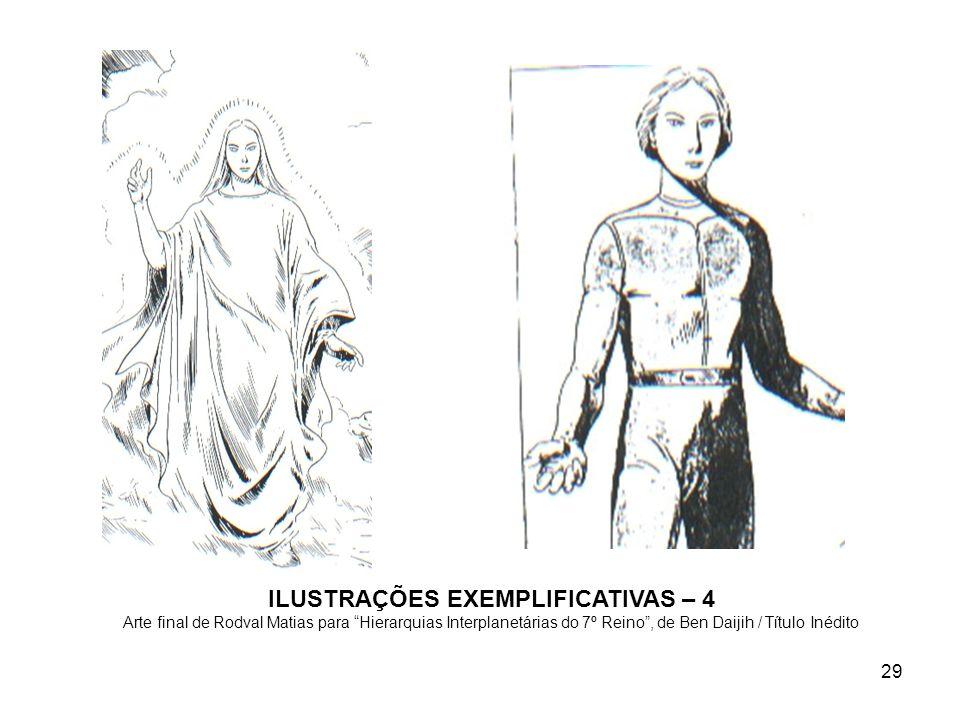 ILUSTRAÇÕES EXEMPLIFICATIVAS – 4 Arte final de Rodval Matias para Hierarquias Interplanetárias do 7º Reino , de Ben Daijih / Título Inédito