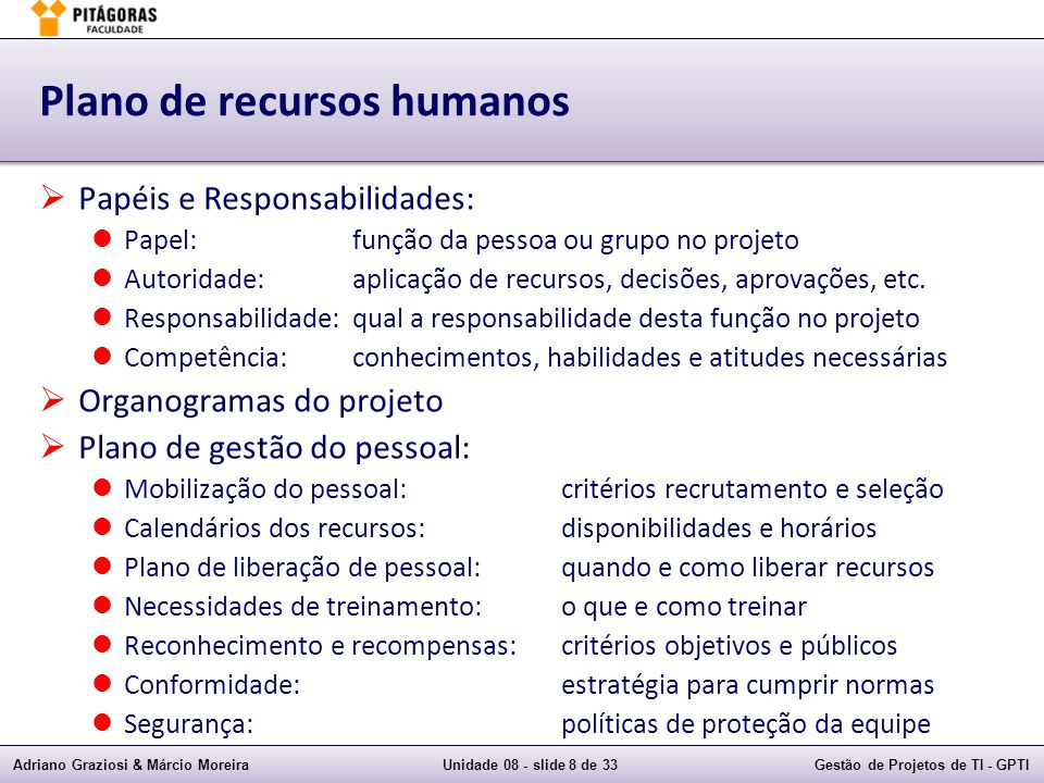 Plano de recursos humanos
