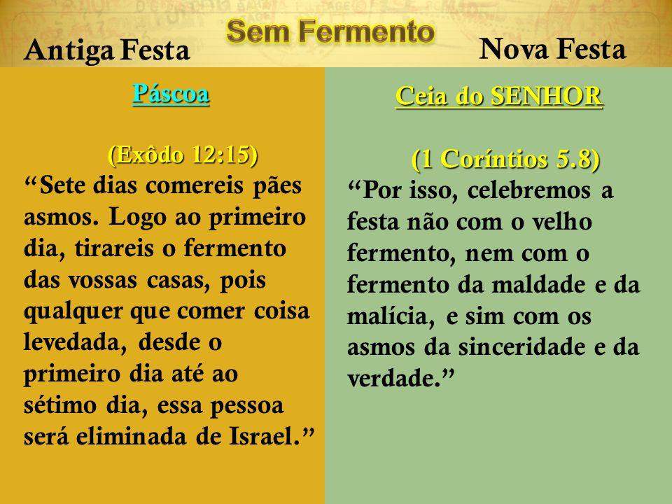 Sem Fermento Antiga Festa Nova Festa Páscoa Ceia do SENHOR