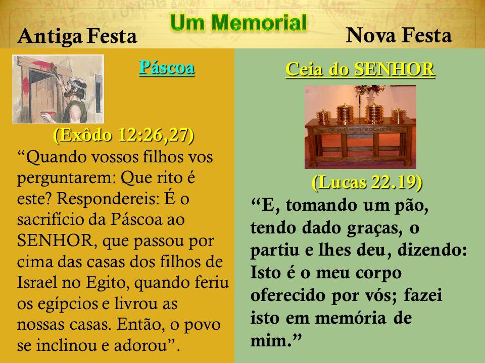 Um Memorial Antiga Festa Nova Festa Páscoa Ceia do SENHOR