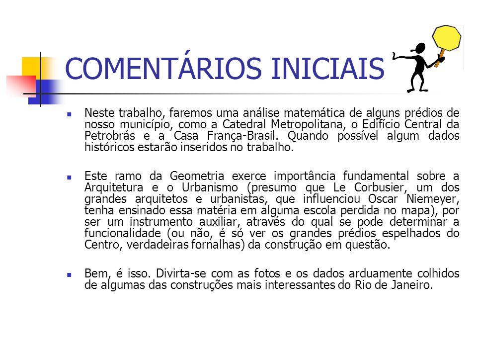 COMENTÁRIOS INICIAIS