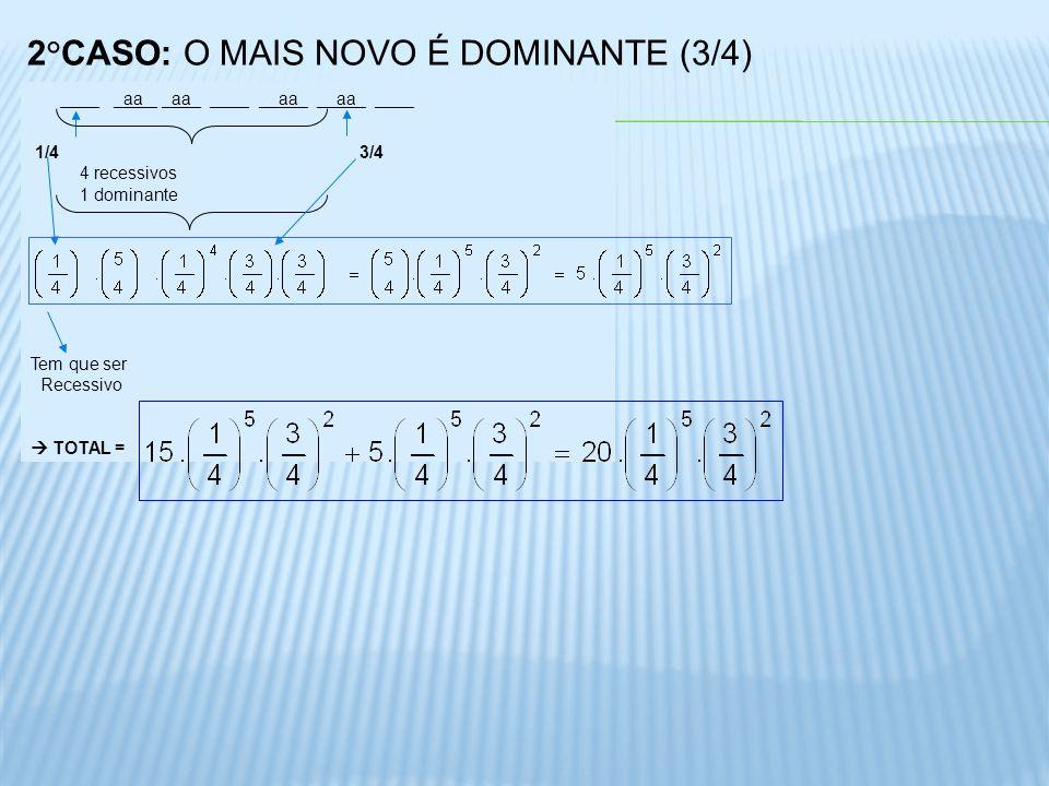 2°CASO: O MAIS NOVO É DOMINANTE (3/4)