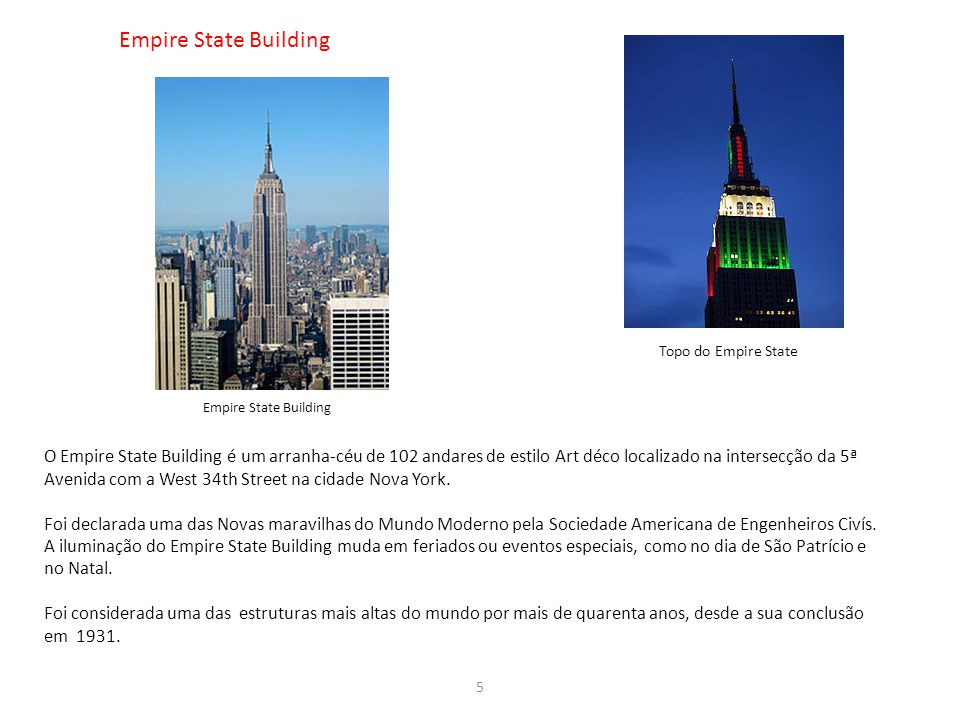 Empire State Building Topo do Empire State. Empire State Building.