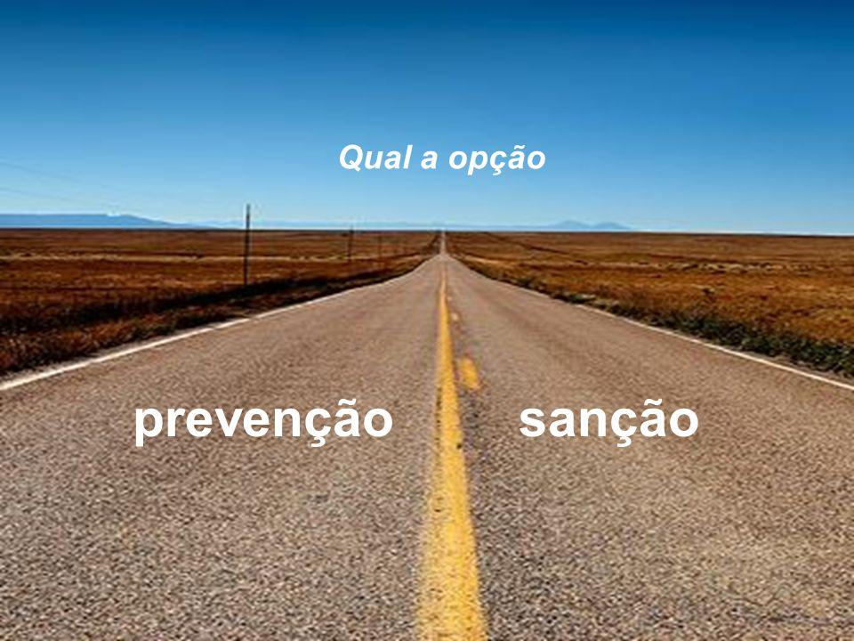 Qual a opção prevenção sanção
