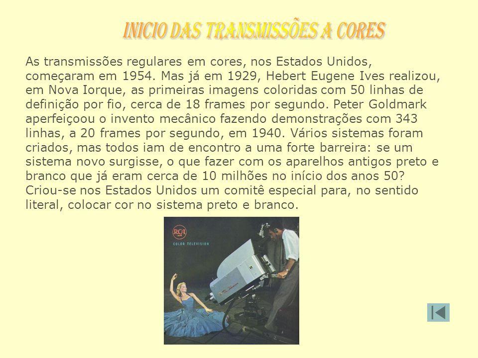 INICIO DAS TRANSMISSÕES A CORES