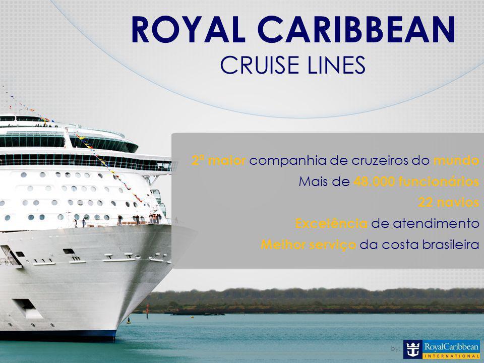 ROYAL CARIBBEAN CRUISE LINES 2ª maior companhia de cruzeiros do mundo