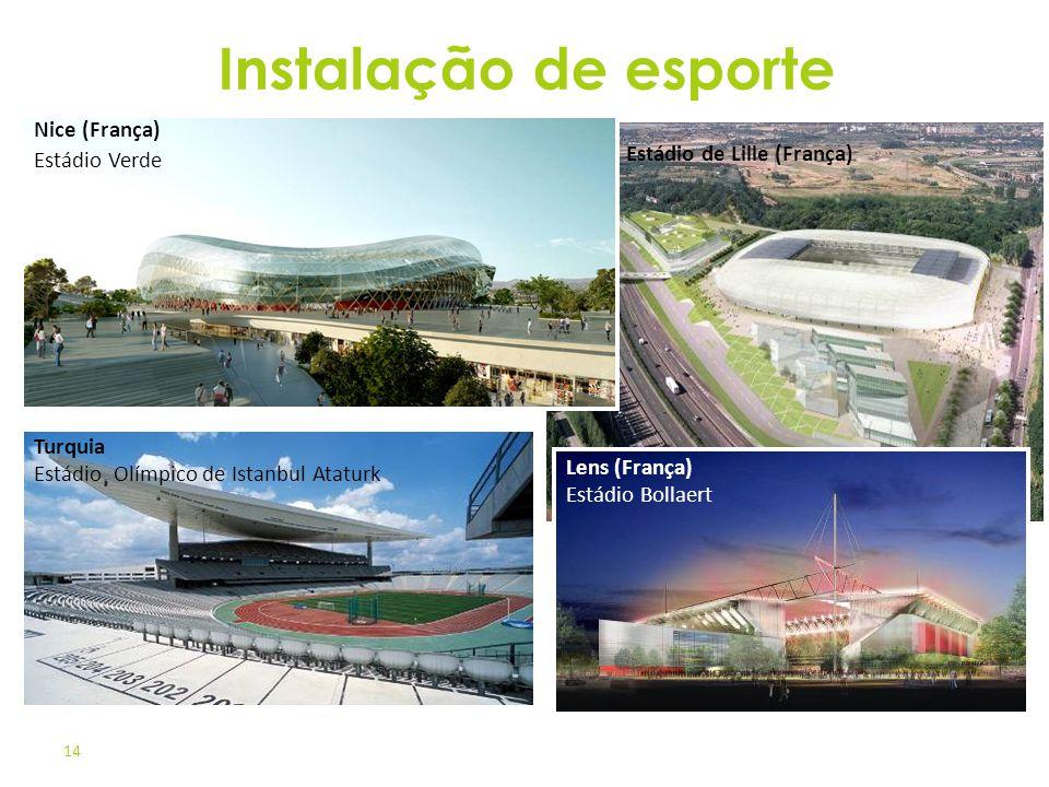 Instalação de esporte Nice (França) Estádio Verde