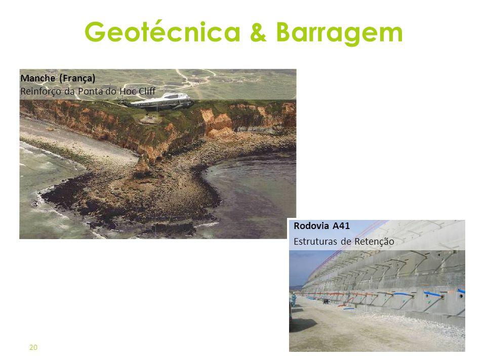 Geotécnica & Barragem Manche (França) Reinforço da Ponta do Hoc Cliff