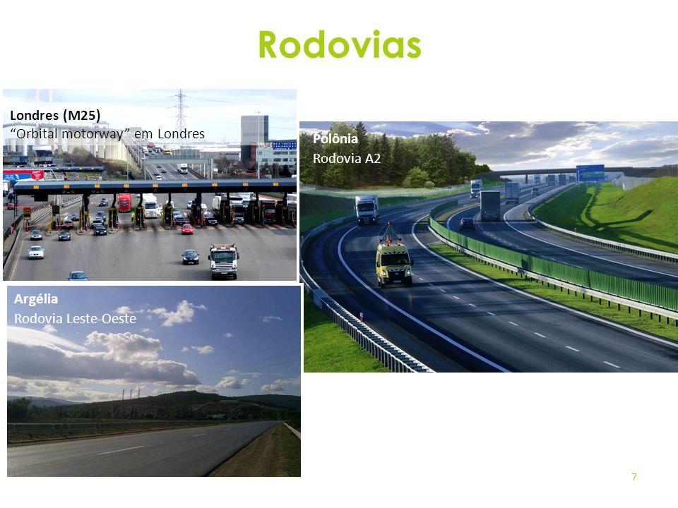 Rodovias Londres (M25) Orbital motorway em Londres Polônia