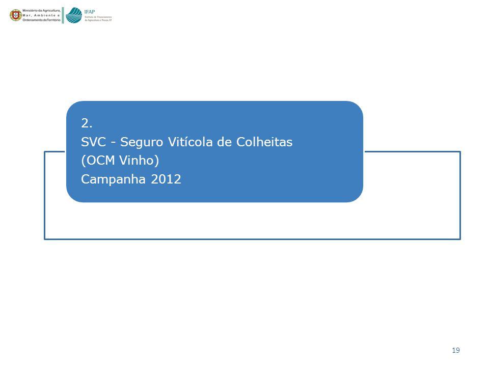 2. SVC - Seguro Vitícola de Colheitas (OCM Vinho) Campanha 2012
