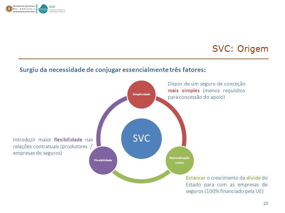SVC: Origem Surgiu da necessidade de conjugar essencialmente três fatores: SVC. Simplicidade. Racionalização.