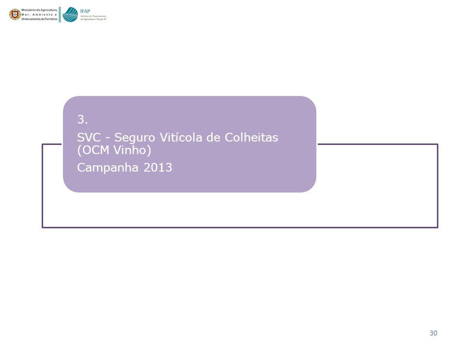 3. SVC - Seguro Vitícola de Colheitas (OCM Vinho) Campanha 2013